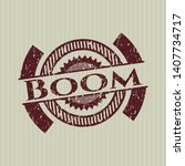 red boom with rubber seal... | Shutterstock .eps vector #1407734717