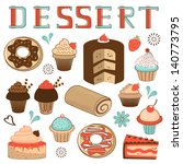 colorful dessert menu...