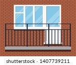 closed white plastic pvc not... | Shutterstock .eps vector #1407739211