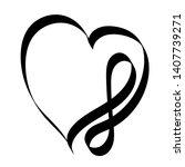 hand drawn infinity heart love...   Shutterstock .eps vector #1407739271