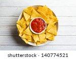 The Corn Nachos With Tomato Dip