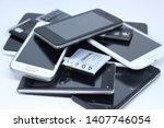 old smartphones and old...   Shutterstock . vector #1407746054