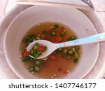 Stock photo thai condiment fish sauce with thai chilis nam pla prik 1407746177