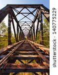 old abandoned railroad bridge... | Shutterstock . vector #140775229