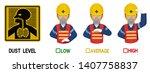 set of industrial worker with... | Shutterstock .eps vector #1407758837
