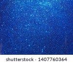 Glowing Blue Glitter Texture...