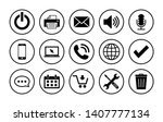web icon set. contact us icons. ... | Shutterstock .eps vector #1407777134