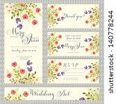 wedding invitation template in... | Shutterstock .eps vector #140778244