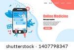 webpage template. online...   Shutterstock .eps vector #1407798347