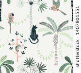 jungle life vector color... | Shutterstock .eps vector #1407801551