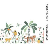 wild nature vector color... | Shutterstock .eps vector #1407801557