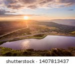 Aerial View At Sunset Brecon...