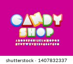 vector colorful logo candy shop ... | Shutterstock .eps vector #1407832337