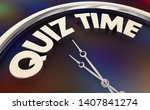 quiz time study take test words ...   Shutterstock . vector #1407841274