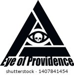 masonic sign with eye in a... | Shutterstock .eps vector #1407841454