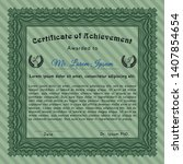 green diploma template. cordial ... | Shutterstock .eps vector #1407854654