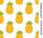 pineapple seamless pattern....   Shutterstock .eps vector #1407859844