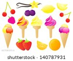 fruit glossy ice cream vector... | Shutterstock .eps vector #140787931