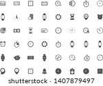 time clock vector icon set for...