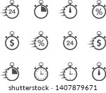 fast time stopwatch vector icon ...