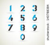 numbers set  vector. | Shutterstock .eps vector #140788384