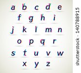 lower case alphabet vector set  ... | Shutterstock .eps vector #140788915