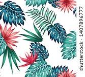 realistic exotic illustration... | Shutterstock .eps vector #1407896777