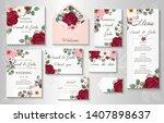wedding invitation  menu ...   Shutterstock .eps vector #1407898637
