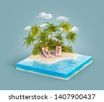 unusual 3d illustration of a... | Shutterstock . vector #1407900437