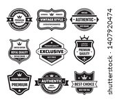 business badges vector set in... | Shutterstock .eps vector #1407920474