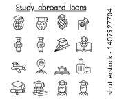study abroad   graduation icon... | Shutterstock .eps vector #1407927704