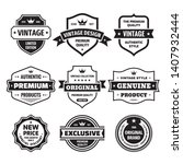 business badges vector set in... | Shutterstock .eps vector #1407932444