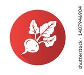 beet flat design long shadow... | Shutterstock .eps vector #1407946904