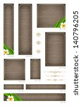 wooden backgrounds with... | Shutterstock .eps vector #140796205
