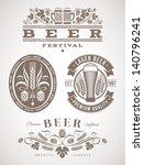 beer emblems and labels  ... | Shutterstock .eps vector #140796241