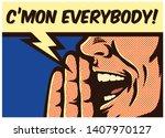 pop art style comic book panel... | Shutterstock .eps vector #1407970127