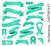 set of ribbons and labels....