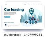 web page flat design template... | Shutterstock .eps vector #1407999251