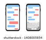 mobile phone with message... | Shutterstock .eps vector #1408005854