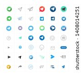 collection colored vector signs ... | Shutterstock .eps vector #1408014251