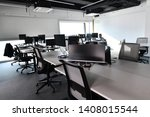 empty modern open plan office...   Shutterstock . vector #1408015544