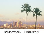 Los Angeles And Snowy Mount...
