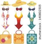 set for beach | Shutterstock .eps vector #140802505