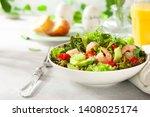 fresh summer salad with shrimp  ... | Shutterstock . vector #1408025174
