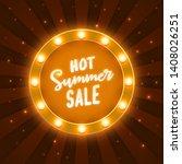 hot summer sale    illuminated... | Shutterstock .eps vector #1408026251