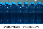 rows of water bottles. front...   Shutterstock . vector #1408030691
