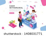 financial  withdrawal cash.... | Shutterstock .eps vector #1408031771