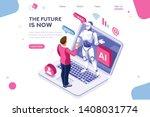 human interactive tech... | Shutterstock .eps vector #1408031774