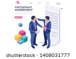 success partnership successful... | Shutterstock .eps vector #1408031777