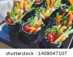 beautifully decorated catering... | Shutterstock . vector #1408047107
